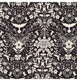 Jennifer Sampou Rayon Lawn, Lucinda in Graphite, Fabric Half-Yards AJSX-17365-305