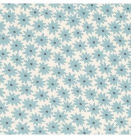 Elizabeth Hartman Rayon Lawn, Lucinda in Dusty Blue, Fabric Half-Yards AZHX-17369-68