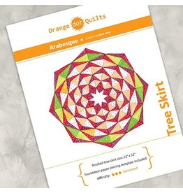 Orange Dot Quilts Orange Dot Quilt's Arabesque Tree Skirt Pattern