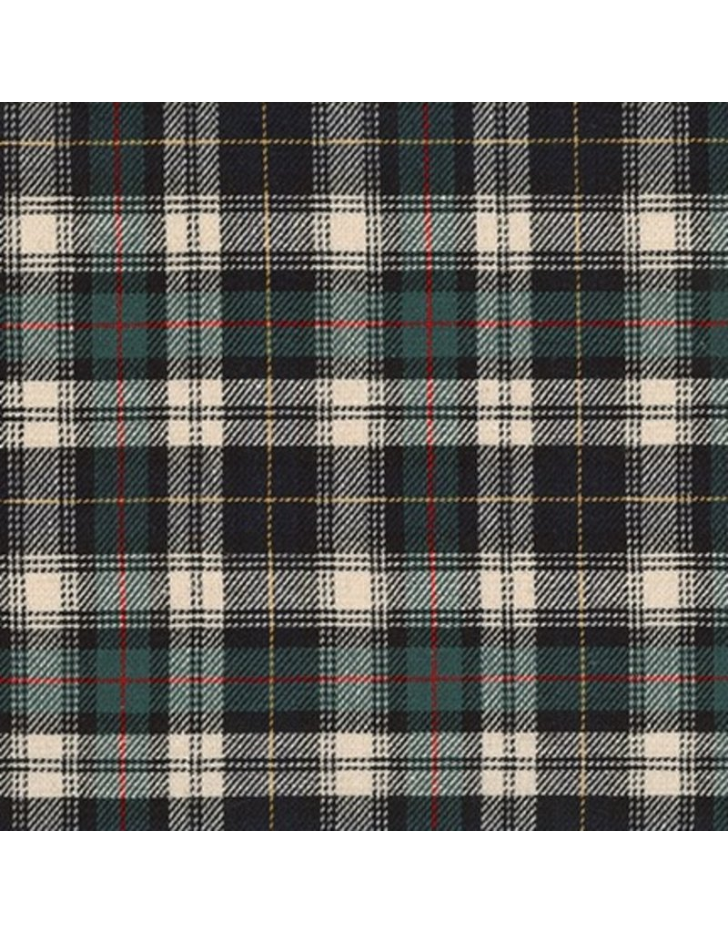 Robert Kaufman Classic Plaid Twill, Hunter, Fabric Half-Yards SB-13110D7-29