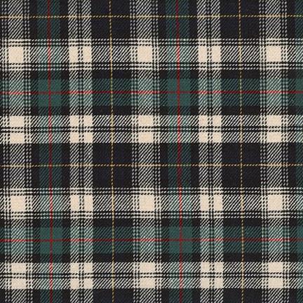 Robert Kaufman Classic Plaid Twill, Hunter, Fabric Half-Yards SB-13110D7-29
