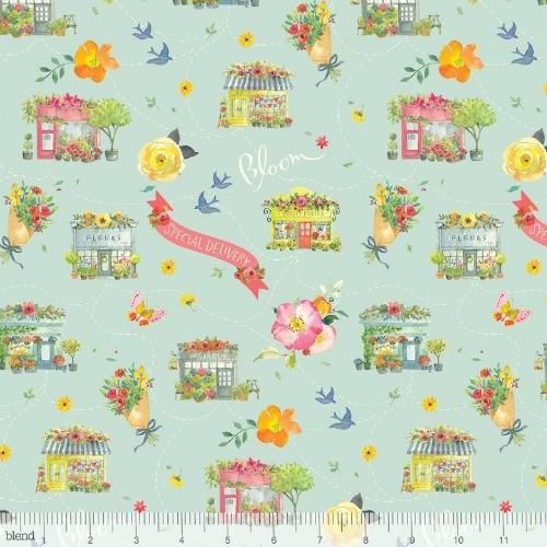 Blend Fabrics Chelsea Market, Columbia Road in Grey, Fabric Half-Yards  123.104.02.2