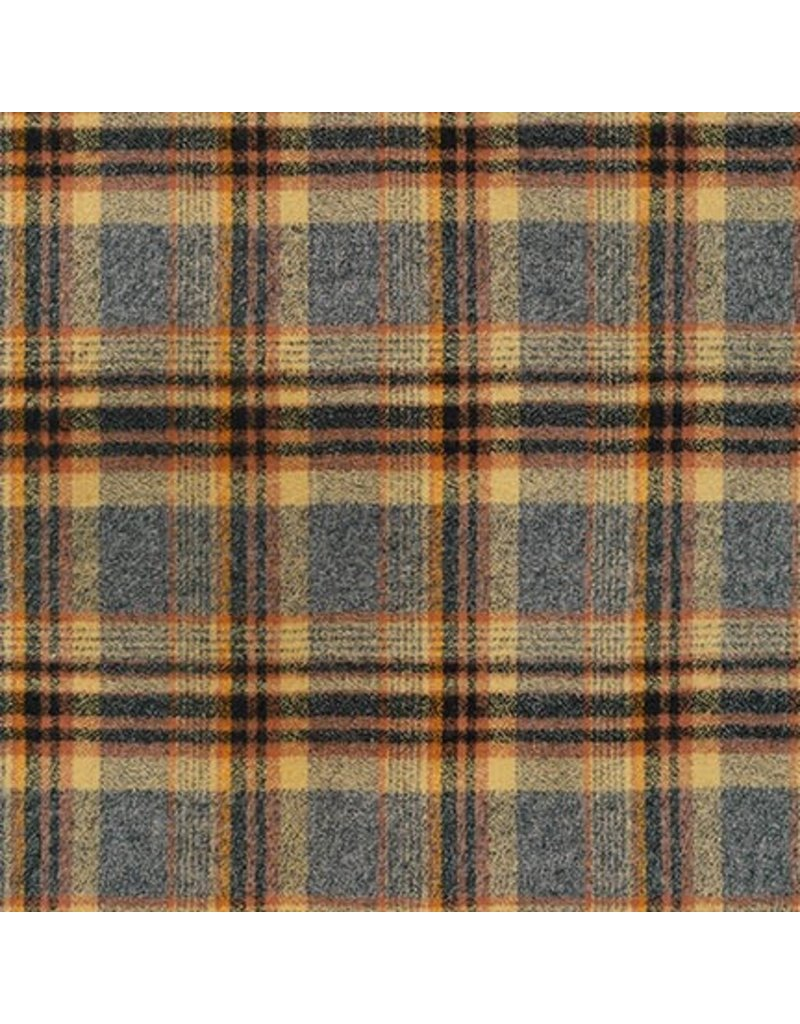 Robert Kaufman Yarn Dyed Cotton Flannel, Mammoth Flannel in Maize, Fabric Half-Yards