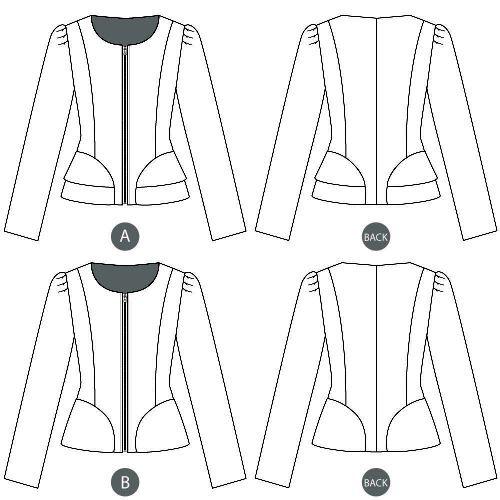 ON SALE-Sewaholic's Cordova Jacket - 1205 Pattern - 50% off regular price of $19.98
