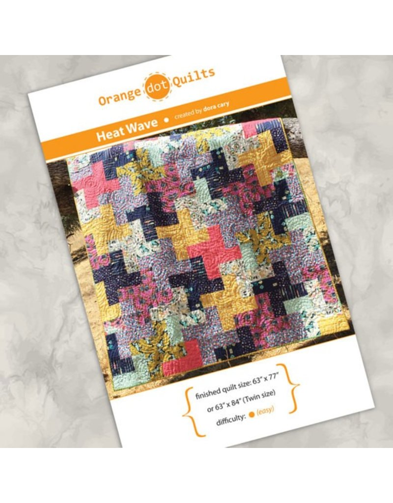 Orange Dot Quilts Orange Dot Quilt's Heat Wave Pattern