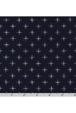 Sevenberry Nara Homespun, Plus in Indigo, Fabric Half-Yards SB-88223D23-62