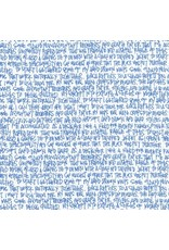 Carolyn Friedlander ON SALE-Architextures, Scribble Notes in Blueprint, Fabric Half-Yards AFR-13501-387