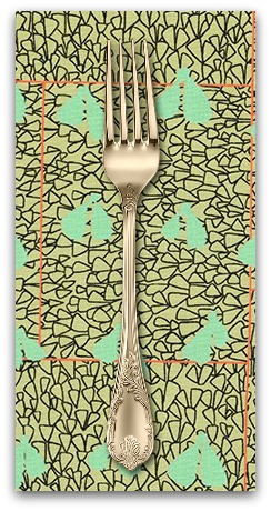 PD's Carolyn Friedlander Collection Gleaned, Wings in Eucalyptus, Dinner Napkin