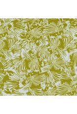 PD's Carolyn Friedlander Collection Gleaned, Lizard Border in Seafoam, Dinner Napkin