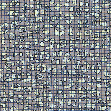Carolyn Friedlander ON SALE-Gleaned, Leo Double Border in Stone, Fabric Half-Yards AFR-17293-155