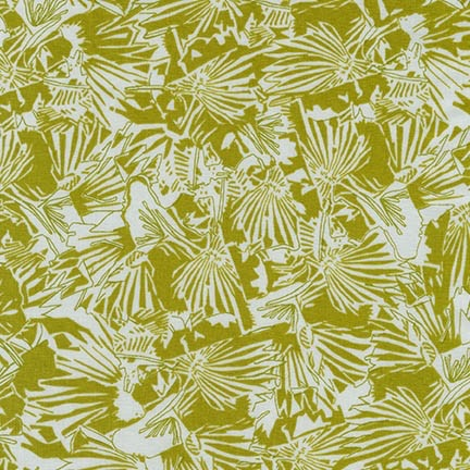 Carolyn Friedlander ON SALE-Gleaned, Lizard Border in Seafoam, Fabric Half-Yards AFR-17289-241