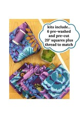 Picking Daisies Dinner Napkin Kit - Your Choice of Fabric + Coordinating Thread to make 6 dinner napkins with mitered corners