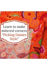 Picking Daisies Dinner Napkin Making Kit - Your Choice of Fabric + Coordinating Thread to make 6 dinner napkins with mitered corners