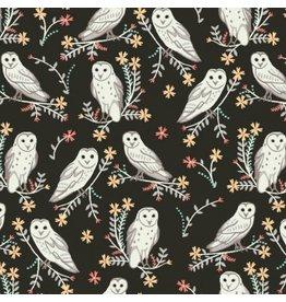 Dear Stella Owls in Coffee, Fabric Half-Yards Stella-900