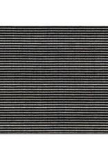 Robert Kaufman Indigo Medium Weight Knit, Thin Stripes in Indigo, Fabric Half-Yards