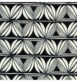 Sarah Watts Rayon, Santa Fe, Pottery in Black, Fabric Half-Yards