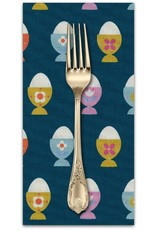PD's Kim Kight Collection Welsummer, Egg Cups in Navy, Dinner Napkin