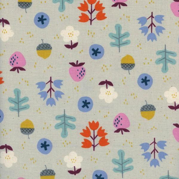 Kim Kight Welsummer, Forage in Gray, Fabric Half-Yards K3059-002