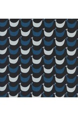Kim Kight ON SALE-Welsummer, Flock in Black, Fabric Half-Yards K3060-001