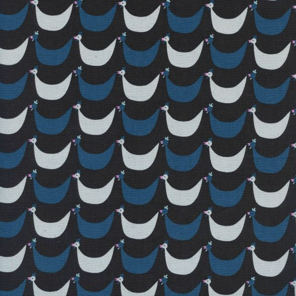 Kim Kight Welsummer, Flock in Black, Fabric Half-Yards K3060-001