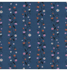 Kim Kight Welsummer, Daisy Vines in Denim, Fabric Half-Yards K3061-001