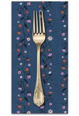PD's Kim Kight Collection Welsummer, Daisy Vines in Denim, Dinner Napkin