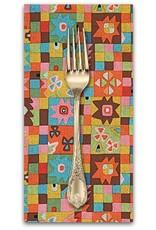 PD's Alexander Henry Collection Folklorico, Cuadros de Azul in Brite Multi, Dinner Napkin