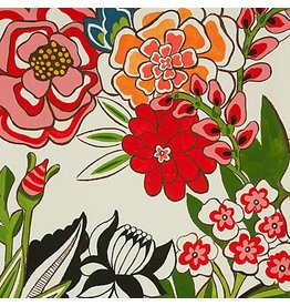 Alexander Henry Fabrics Folklorico, Garden at Coyoacan in Natural Brite, Fabric Half-Yards 8615C