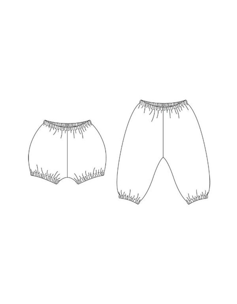 Wiksten's Baby + Toddler Bloomers and Pants Sewing Pattern