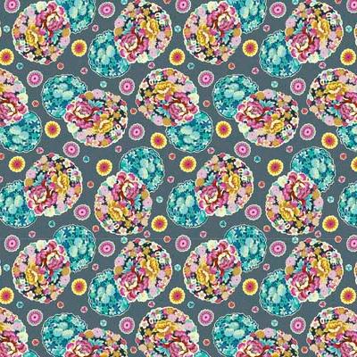 Amy Butler Night Music, Cloud Blossom in Heather, Fabric Half-Yards CPAB007