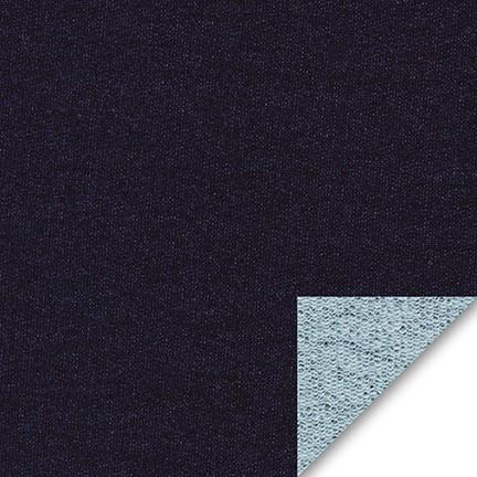Robert Kaufman Indigo French Terry Medium Weight Knit, Fabric Half-Yards I115-1178