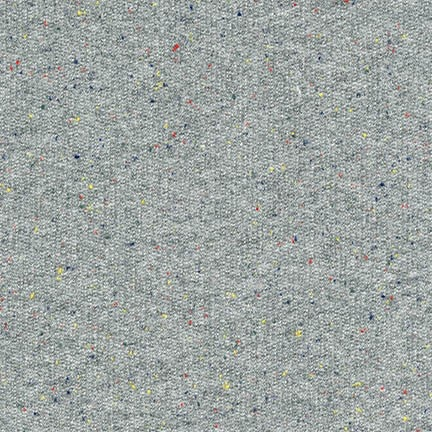 Robert Kaufman French Terry Medium Weight Knit in Grey Speckle, Fabric Half-Yards SRK-16475-12