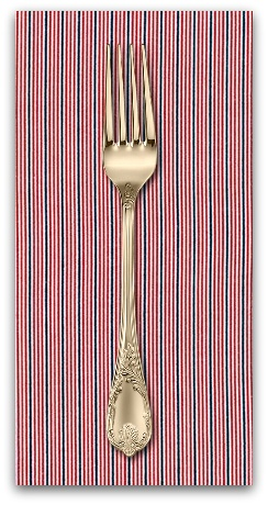 PD's Sevenberry Collection Micro Classics in Red, Dinner Napkin