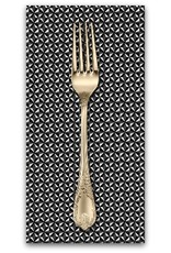 PD's Robert Kaufman Collection Sevenberry, Micro Classics in Black, Dinner Napkin