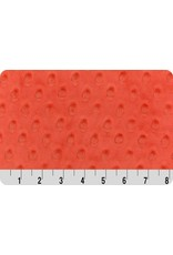 Shannon Fabrics Cuddle Dimple Minky in Tomato, Fabric Half-Yards