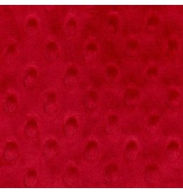 Shannon Fabrics Cuddle Dimple Minky in Red, Fabric Half-Yards