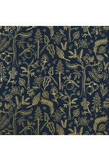 PD's Rifle Paper Co Collection Amalfi, Black Forest in Navy with Metallic, Dinner Napkin