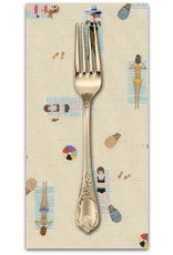 PD's Rifle Paper Co Collection Amalfi, Sun Girls in Natural Unbleached Cotton, Dinner Napkin