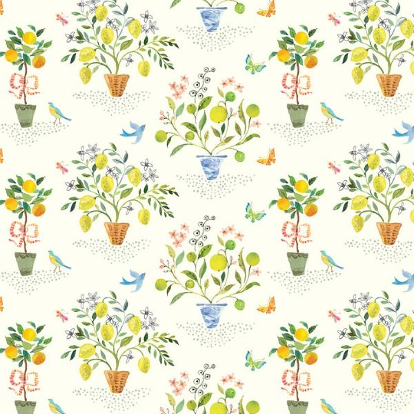 PD's Blend Fabrics Collection Limonella, Orangerie in Ivory, Dinner Napkin