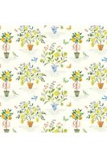 Blend Fabrics Limonella, Orangerie in Ivory, Fabric Half-Yards 123.105.02.2