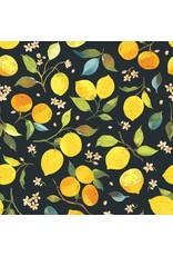 Blend Fabrics Limonella, Citrone in Grey, Fabric Half-Yards 123.105.01.2