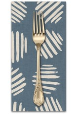 PD's Cotton + Steel Collection Panorama, Coin Dots in Dolphin Unbleached Cotton, Dinner Napkin