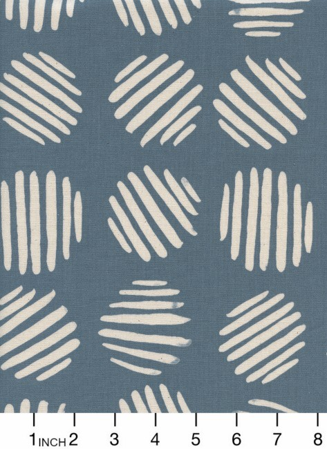 Cotton + Steel Panorama, Coin Dots in Dolphin Unbleached Cotton, Fabric Half-Yards  C5175-001