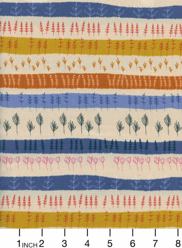 Cotton + Steel ON SALE-Firelight, Herb Garden in Natural Unbleached Cotton, Fabric Half-Yards  C5180-002