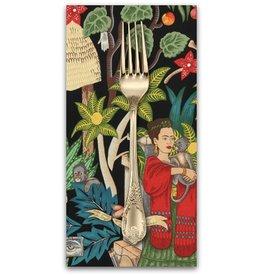 PD's Alexander Henry Collection Folklorico, Fridas Garden in Black, Dinner Napkin