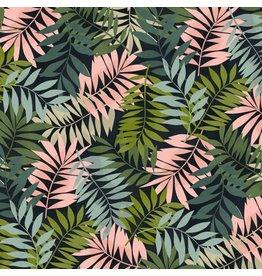 Maude Asbury Leilani, Fern in Black, Fabric Half-Yards 101.137.03.1