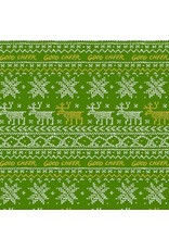 PD's Andover Collection Good Cheer, Sweater in Evergreen, Dinner Napkin