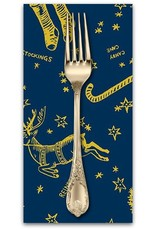 PD's Andover Collection Good Cheer, Deck the Halls in Winter Night, Dinner Napkin