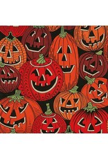 PD's Alexander Henry Collection Haunted House, Jack O'Laughter in Black Halloween, Dinner Napkin