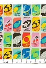 Alexander Henry Fabrics Nicole's Prints, Lemon Crush in Natural, Fabric Half-Yards 8653A